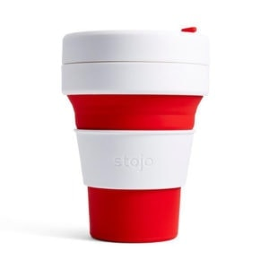 stojo Pocket Cup - der faltbare Coffee to go Becher (12oz) rot