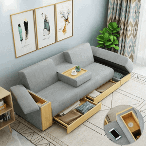 DUAL FUNCTION FURNITURE FOR LARGER SPACE SMALL HOUSE