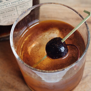 Maple Bourbon Manhattan Cocktail