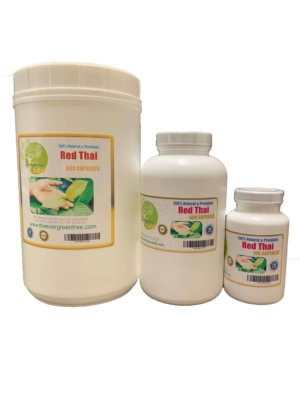 Red Thai kratom Capsules, Red Thai Kratom Capsules (500mg), Buy Kratom Online - the evergreen tree  