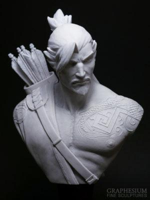 Custom handmade Hanzo Shimada (Overwatch) sculpture / statue / figure by Graphesium (gsculpt)