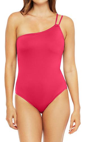 Best one-piece bathing suits for women - La Blanca Goddess One-Shoulder One-Piece Swimsuit | 40plusstyle.com