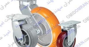انواع چرخهای سنگین سایز 6 اینچ/چرخهای دایکاست و چرخهای پلی یورتان و نایلون