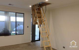 attic ladder install