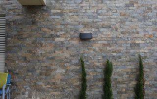 אבן צפחה אפורה - חיפוי קיר חיצוני