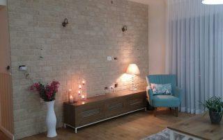 בריקים רטרו דגם בלאנש - חיפוי קיר פנימי בסלון