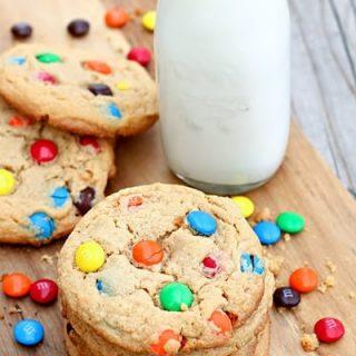 Big Peanut Butter M&M Cookies