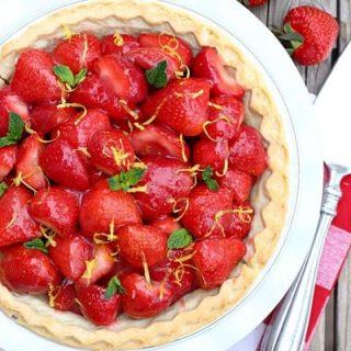 Strawberry Lemon Pie