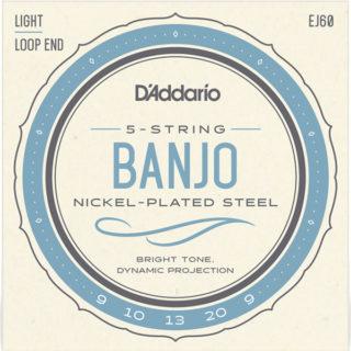 d'addario EJ60 5-string banjo strings
