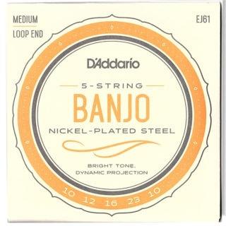 d'addario EJ61 5-string banjo strings
