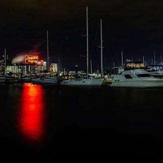 Baltimore Inner Harbor at Night - Domino Sugar Sign