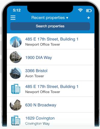 CRE app properties list