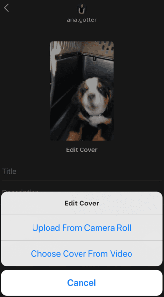 How to add IGTV cover and thumbnail on Instagram