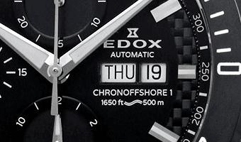 Detail Edox horloge wijzerplaat