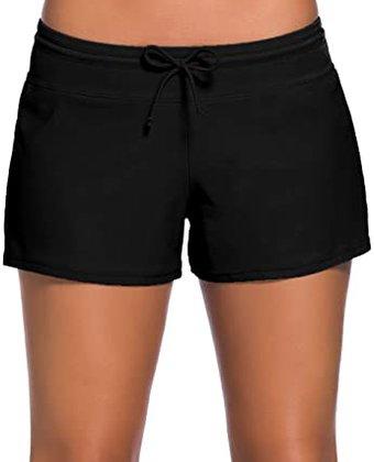 Aleumdr Waistband Bottom Boy Shorts   40plusstyle.cm