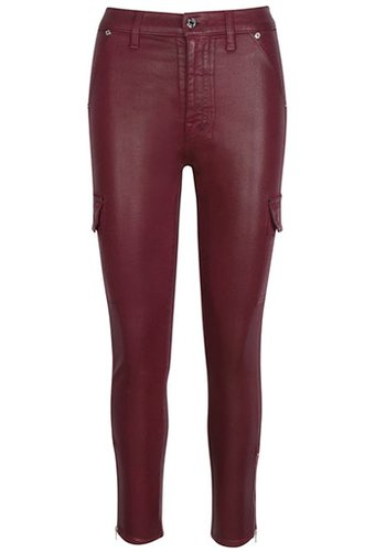 Seven coated skinny cargo pants   40plusstyle.com