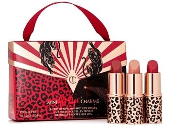Charlotte Tilbury mini Hot Lips Charms lipstick set   40plusstyle.com