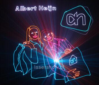 lasershow Albert Heijn