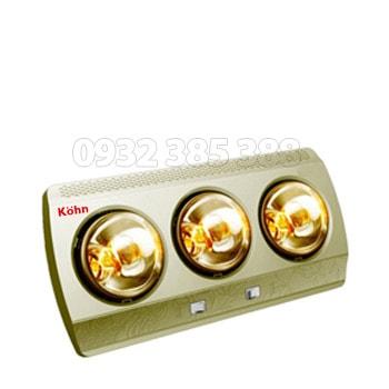Đèn sưởi nhà tắm 3 bóng Braun Kohn KN03G ava