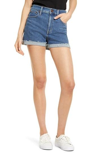 Madewell High Waist Denim Shorts   40plusstyle.com