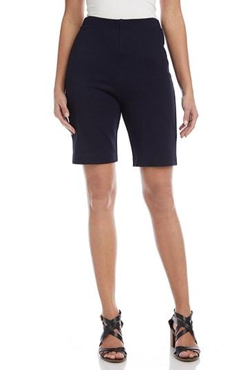 Karen Kane Pull-On Stretch Bermuda Shorts   40plusstyle.com