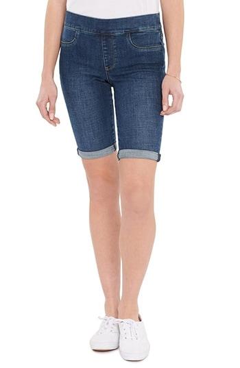 NYDJ Pull-On Denim Shorts   40plusstyle.com