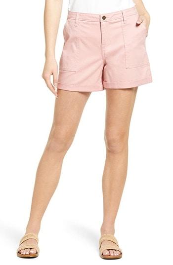 Caslon Rolled Cuff Twill Shorts   40plusstyle.com