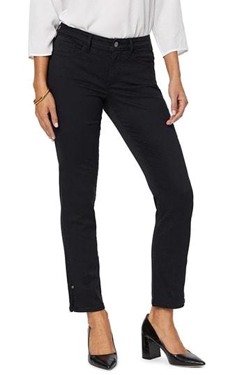 NYDJ Sheri Rivet Side Slit Slim Ankle Jeans | 40plusstyle.com