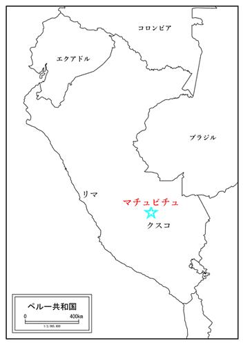 ペルーの地図