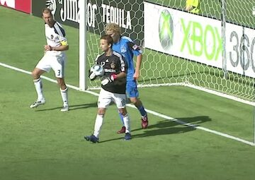 Mike Magee Playing Goalkeeper