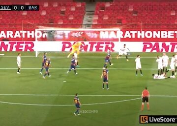 Sevilla Defender on Ground in Wall