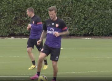Beckham Training Arsenal