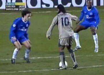 Ronaldinho Toe Poke Chelsea