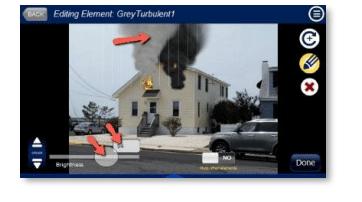 Fire Simulation Effects Slider