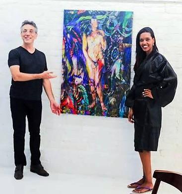 """Pintura """"African Aphodite"""" do Artista Henrique Vieira Filho - Modelo: Amanda Mota"""