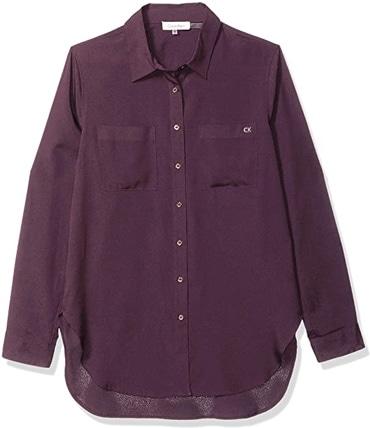 Calvin Klein button down shirt | 40plusstyle.com