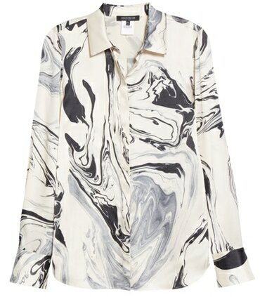 Lafayette 148 New York silk blouse | 40plusstyle.com
