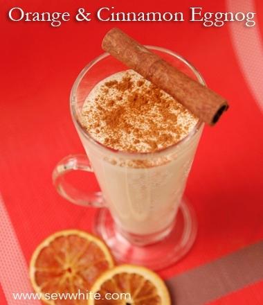Sew White orange and cinnamon eggnog