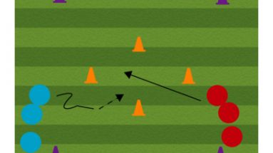 central goal shooting soccer shooting drill