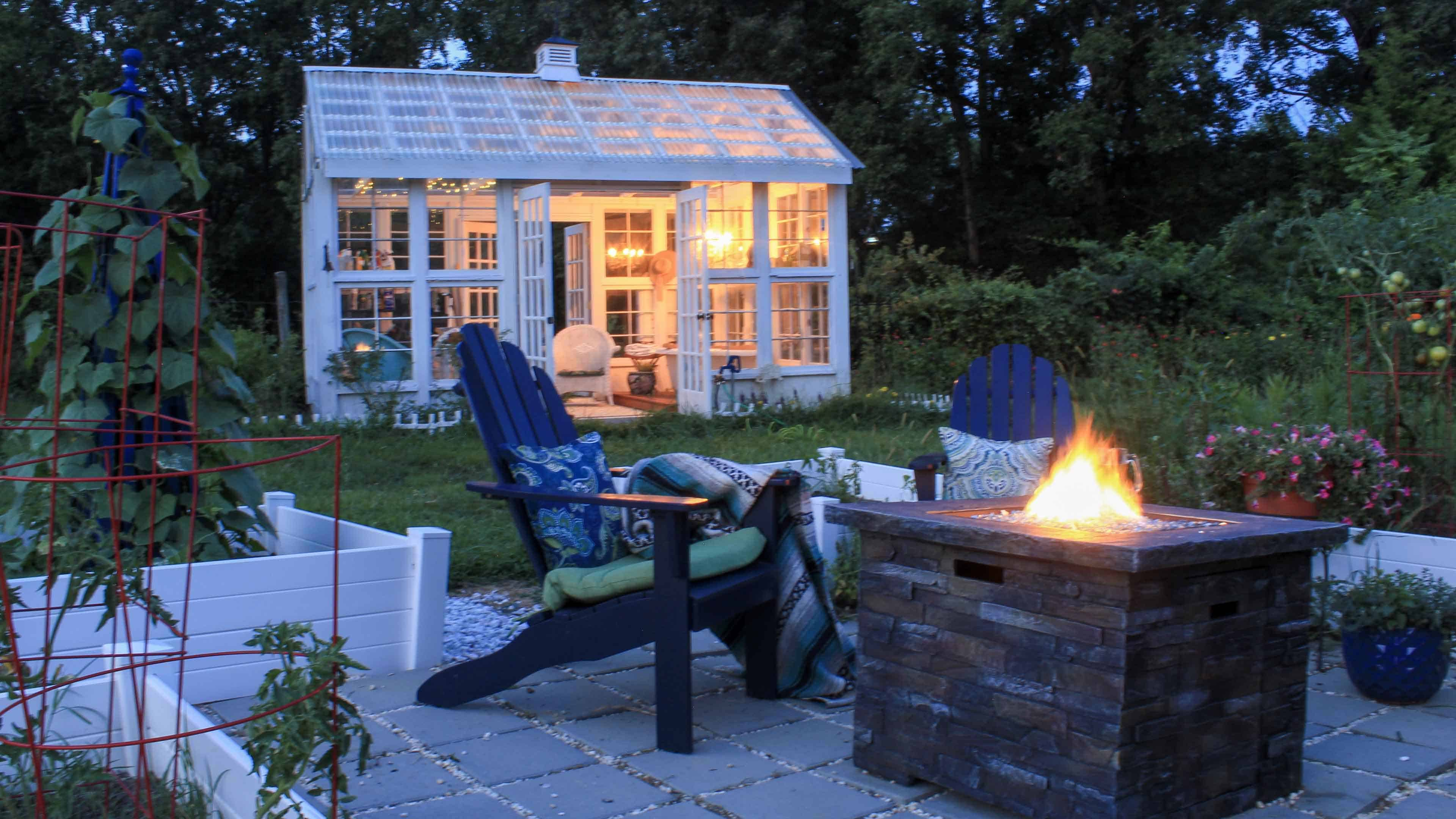 Extend your outdoor living into the fall with firepits, lighting and by adding seasonal plants