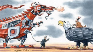 US China fight