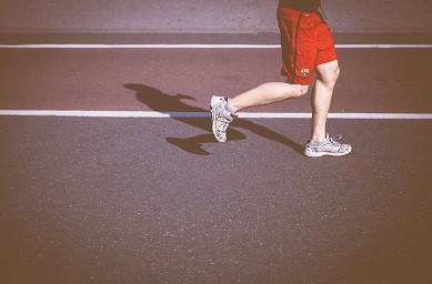 A guy running