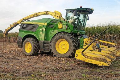 New John Deere harvester with V12 engine