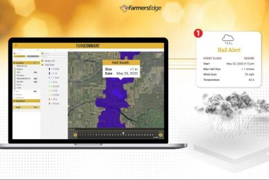 Farmers Edge: automated hail detection and reporting