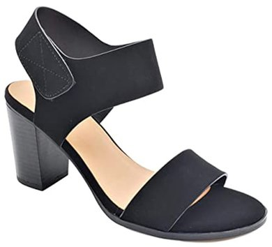 Soda ankle strap block heels | 40plusstyle.com
