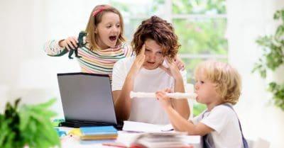 coronavirus homeschooling kids and parents