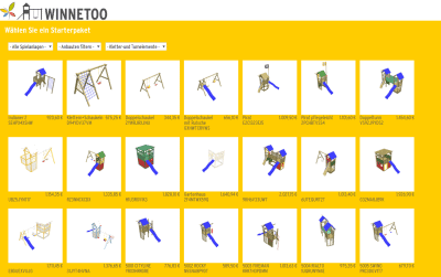 Online-Planer 3D-Modelle Spielgeräte WINNETOO - ObjectCode GmbH
