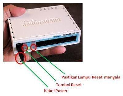Reset Mikrotik RB750