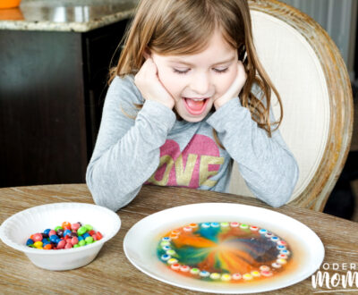rainbow candy science experiment