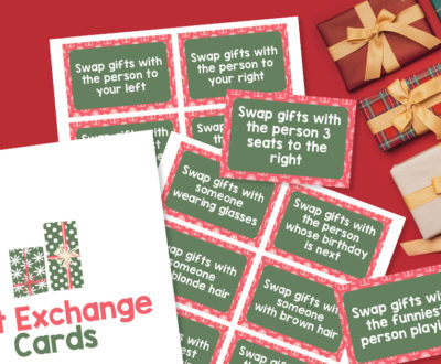 Gift Exchange Cards